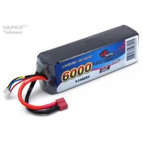 Li-Po Batteri 3S 11,1V 6000mAh 50C T-Kontakt