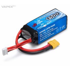 Li-Po Batteri 4S 14,8V 1500mAh 80C XT60-Kontakt